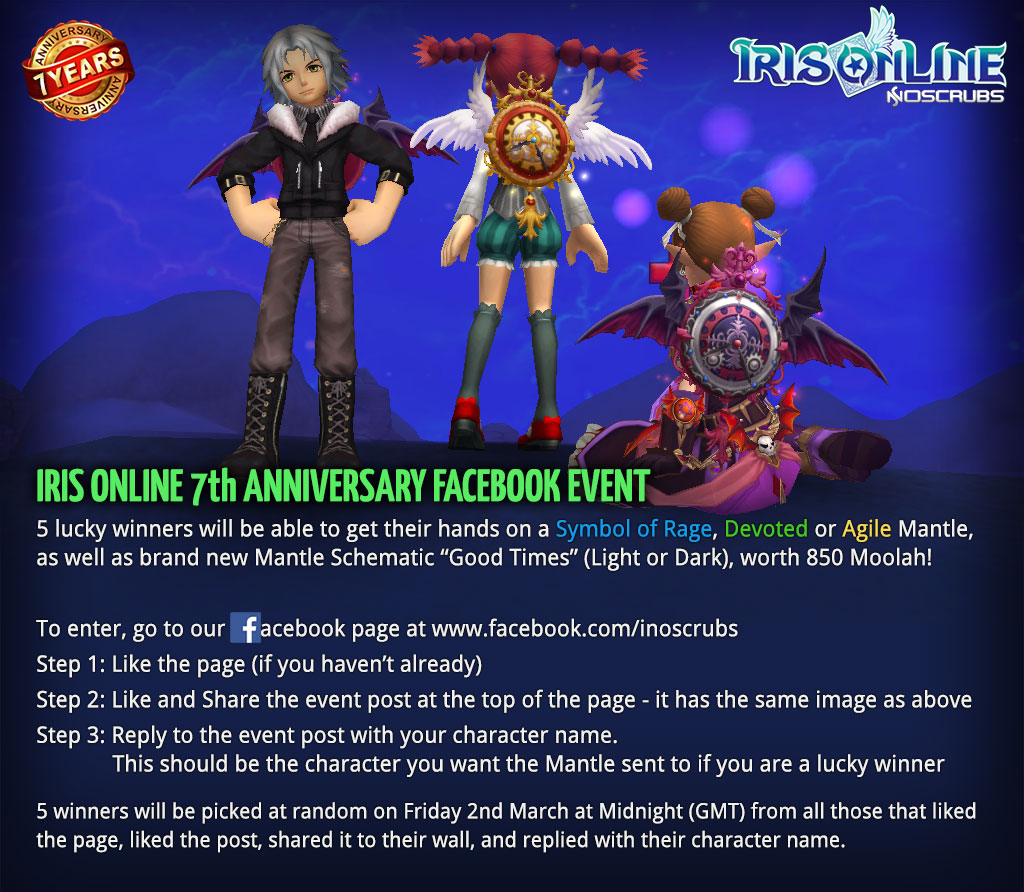 7th Anniversary Facebook Event