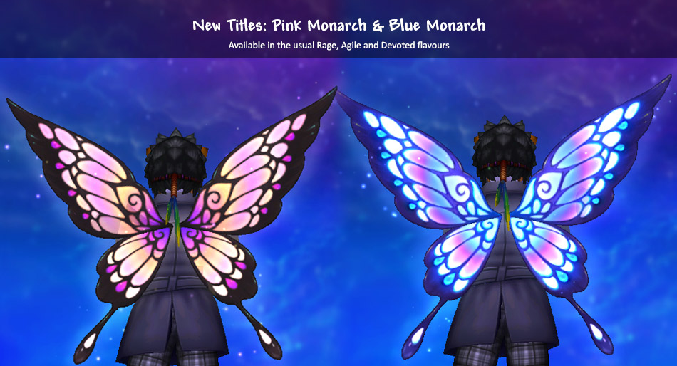 August Titles: Pink Monarch and Blue Monarch