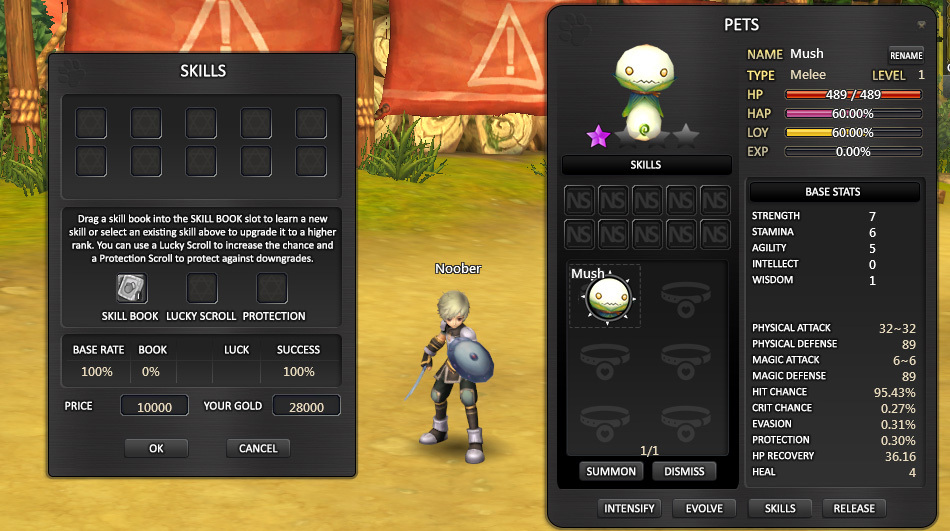 Pet Skill Interface