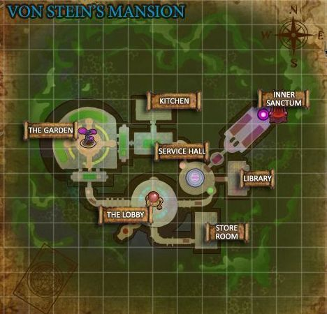 Von Steins Mansion Map
