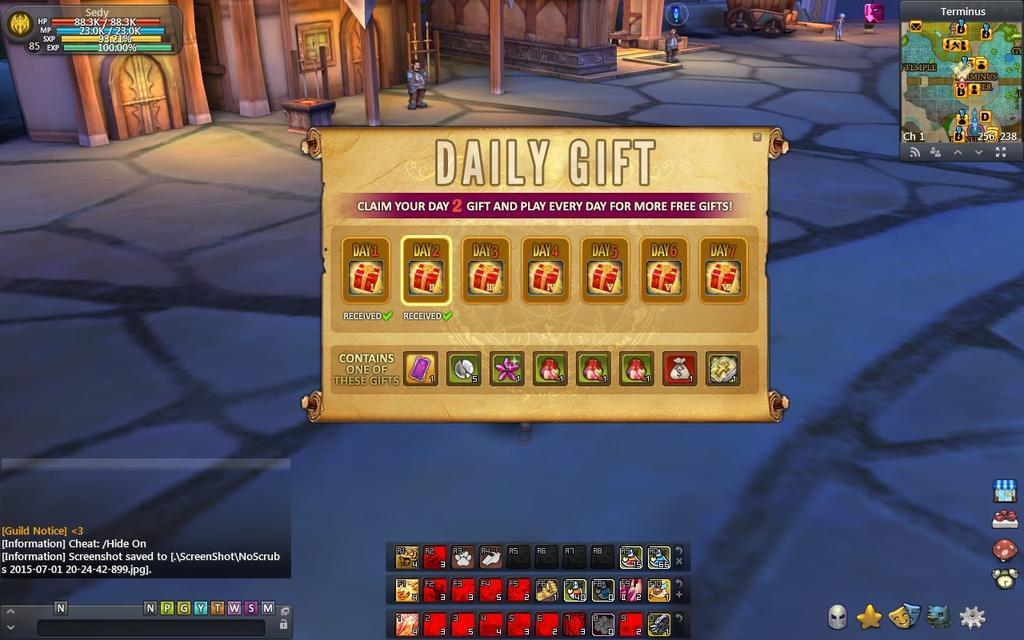 Daily Gift - A new daily gift when you login everyday kinda thing :)